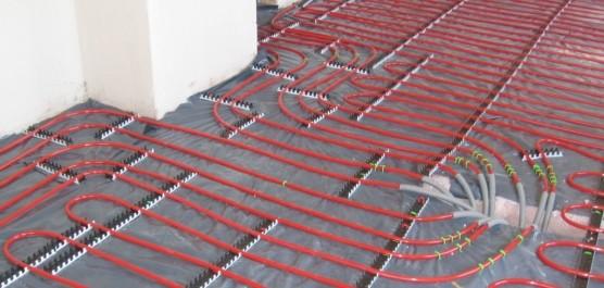 chauffage au sol de type plancher chauffant hydraulique