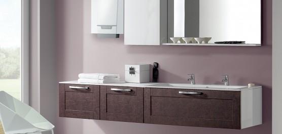 Photo d'ambiance de la chaudière murale gaz à condensation naneo dans une salle de bain