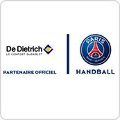 Vignette des logos De Dietrich et de l'équipe du PSG Handball