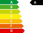 Étiquette énergétique performance eau chaude : A sur une échelle de A à G