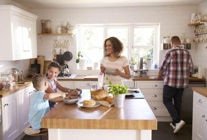 chaudière installée dans une cuisine