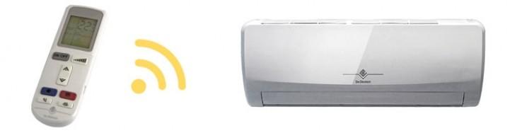 Communication entre la télécommande et l'unité intérieure climatiseur CLIM'UP