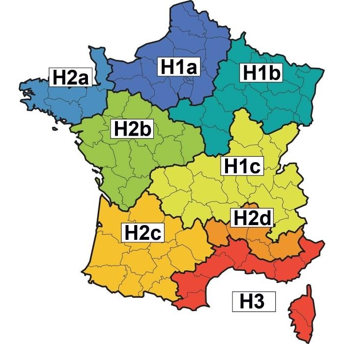 Zone climatique: carte des zones climatiques en France