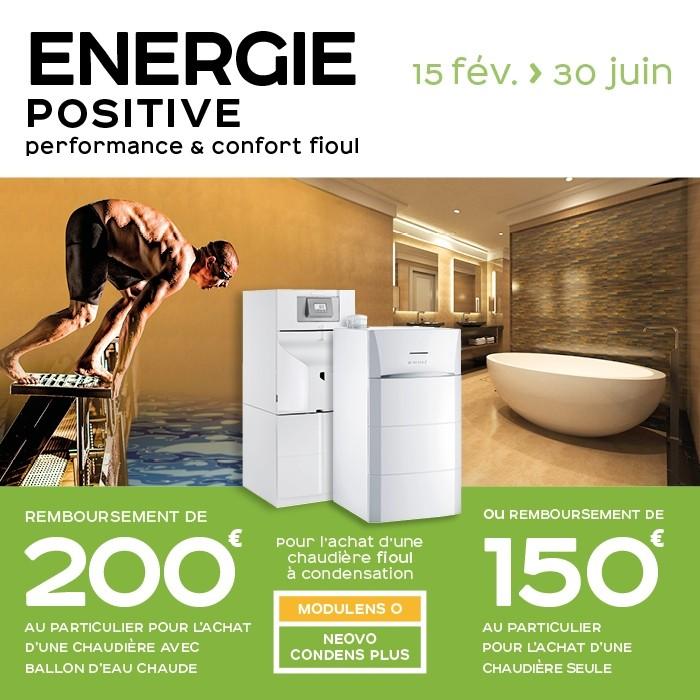 Promotion chaudière fioul au sol énergie positive