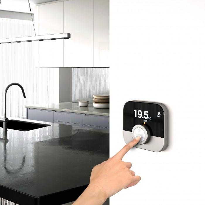 Thermostat d'ambiance connecté Smart TC dans une cuisine