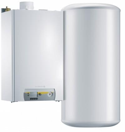 Chaudière murale gaz à condensation Vivadens pour chauffage et production d'eau chaude sanitaire