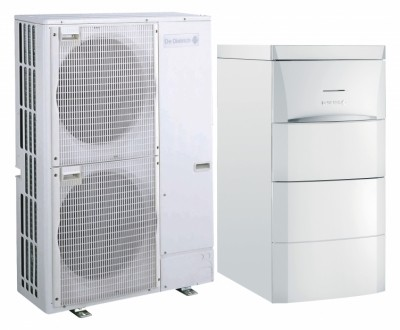 Pompes à chaleur air/eau split inverter Alezio Evolution avec préparateur eau chaude sanitaire intégré au MIV-4