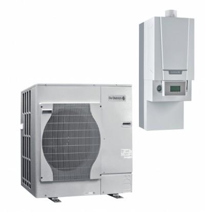 Pompes à chaleur air/eau hybride gaz à condensation murale Alezio G Hybrid pour chauffage et ecs micro-accumulée