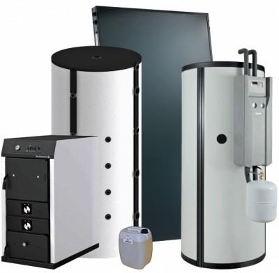 Systèmes solaires SSC Inisol Quadro SolarEasybois pour chauffage bois et eau chaude sanitaire solaire