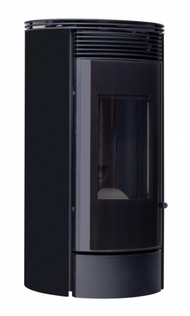 Poêle à granulés de bois non hydraulique Rondalis avec habillage tôle de couleur noire