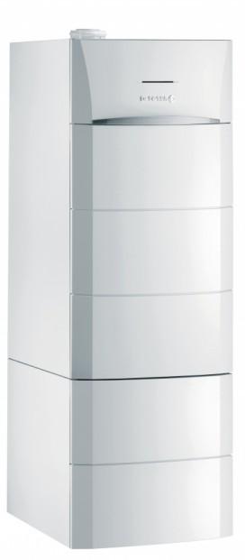Chaudière compacte Modulens O AFC E avec ballon V100HL avec brûleur fioul modulant intégré à condensation pour chauffage et eau chaude sanitaire