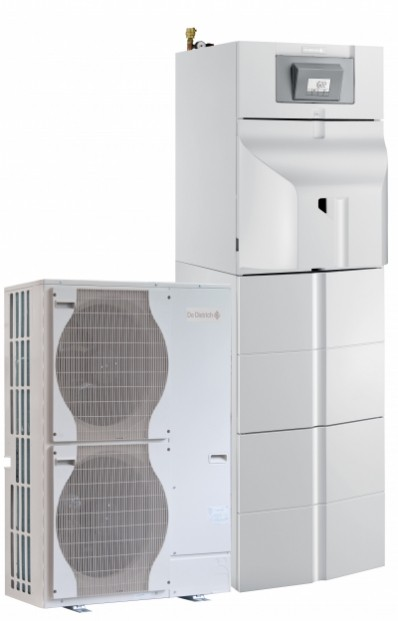 Pompes à chaleur air/eau hybride fioul à condensation au sol Alezio O hybrid pour chauffage et ecs
