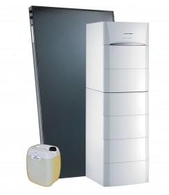 Systèmes solaires cesi Dietrisol Modulens avec appoint hydraulique par chaudière