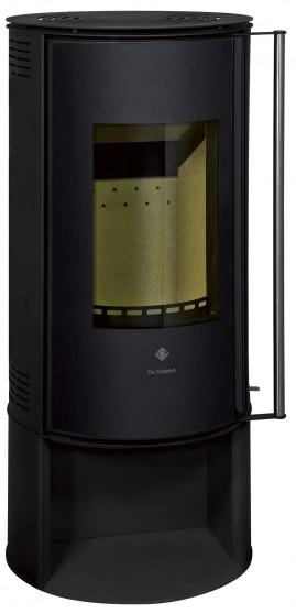 Poêle à bois non hydraulique Ebenis 2 avec jaquette en acier de couleur anthracite noir