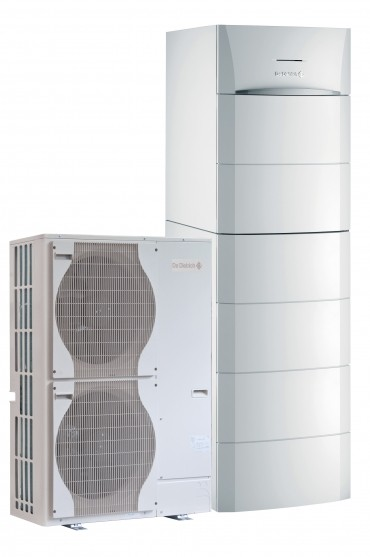 Pompes à chaleur air/eau hybride gaz à condensation au sol HP Inverter G hybrid pour chauffage et ecs 1 colonne