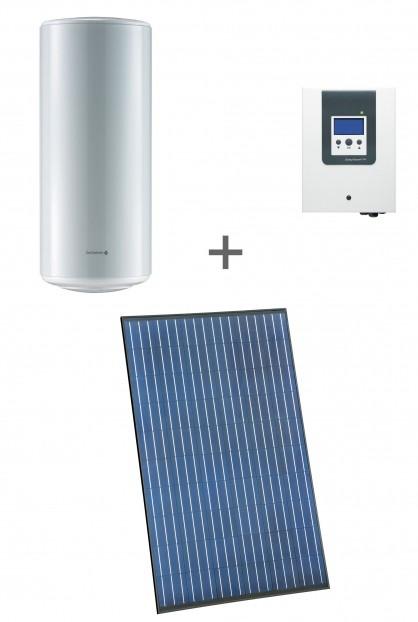 Exemple d'installation pour le kit d'optimisation de l'auto consommation avec capteur photovoltaïque et chauffe eau électrique