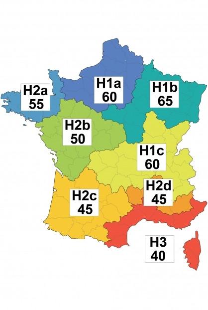 Carte de France des zones climatiques