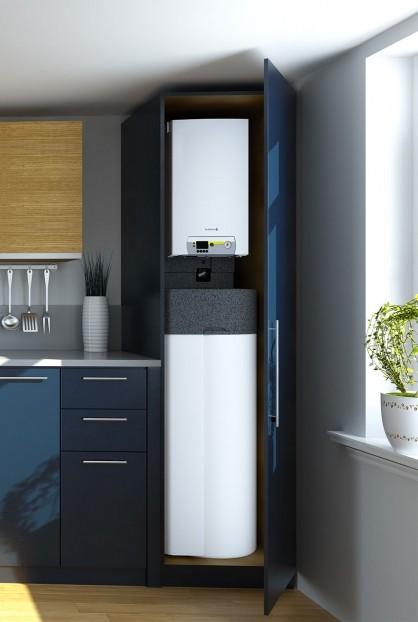 Alezio compact installé dans un placard à cuisine