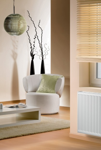 Radiateur Artis horizontal dans un salon