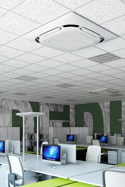 climatiseur cassette encastrable dans un plafond