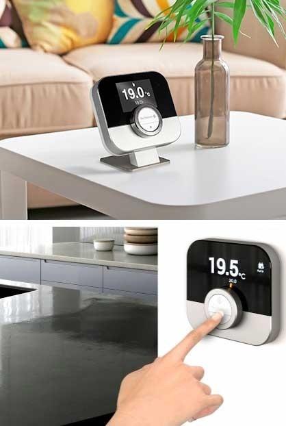 Thermostat d'ambiance connecté filaire ou sans fil Smart TC