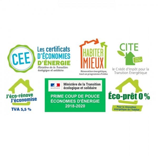 logos des aides pour la rénovation énergétiques des logements et bâtiments