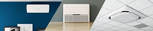 climatiseurs réversibles muraux, consoles et cassettes de la gamme CLIM'UP