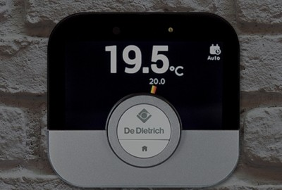 Thermostat d'ambiance connecté Smart TC° sur un mur