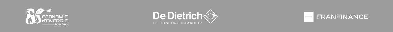 Logo partenaires De Dietrich, Franfinance et Economie d'énergie