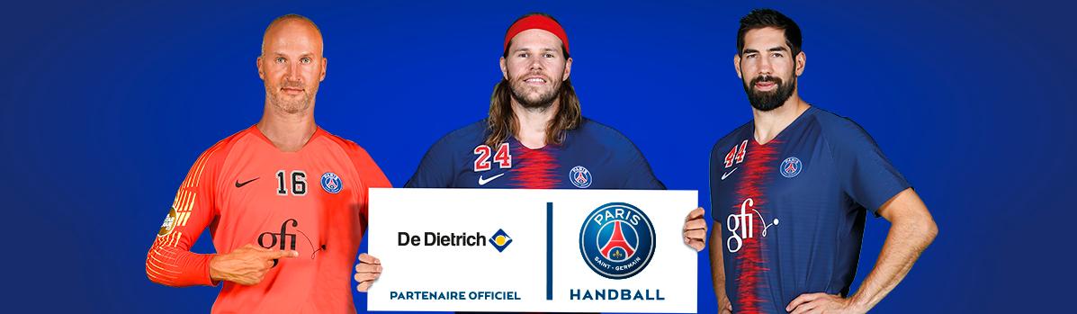 Bandeau pour le partenariat De Dietrich PSG Handball